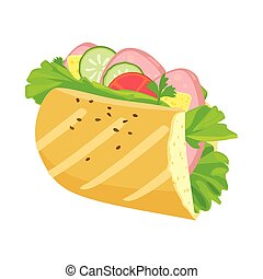 Isolated object of hoagie and burger icon. Web element of hoagie and bun stock symbol for web.