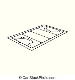 Vector illustration of hockey and field sign. Set of hockey and playing vector icon for stock.