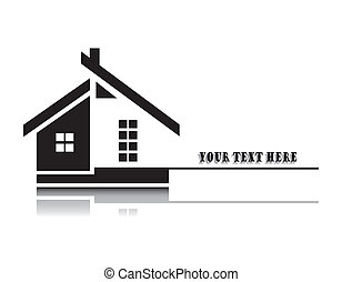 Vector illustration of home on white background