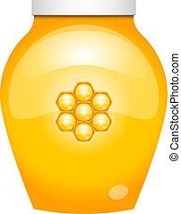 Vector illustration of honey