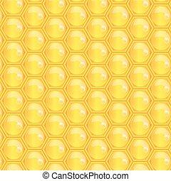 Vector illustration of honeycomb  pattern