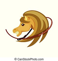 Vector illustration of horse and race logo. Collection of horse and animal vector icon for stock.