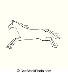 Vector illustration of horse and wildlife logo. Collection of horse and horseback stock symbol for web.
