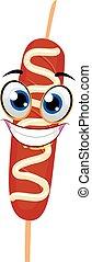 Hotdog on Stick Mascot