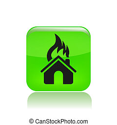 Vector illustration of house burning
