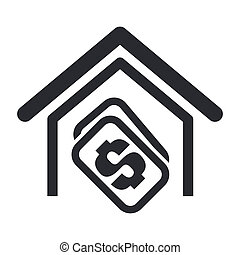 Vector illustration of house buy single isolated icon