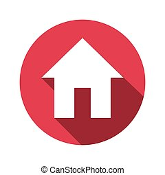 vector illustration of house flat design icon