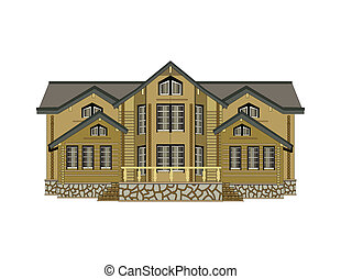 illustration of house isolated