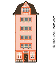 Vector illustration of house isolat