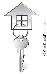 vector illustration of house key