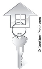 vector illustration of house key