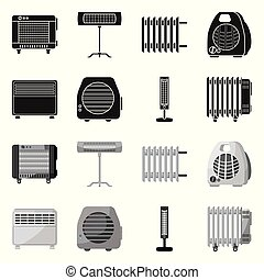 Vector illustration of household and appliances icon. household and appliance stock symbol for web.