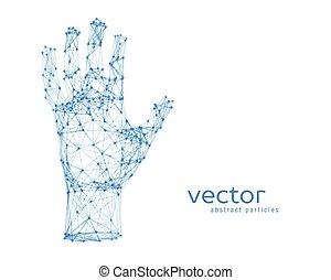Vector illustration of human arm