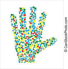 Vector illustration of human hand