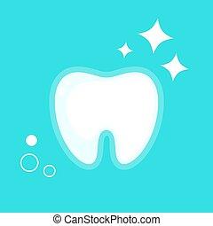 Vector illustration of human tooth. Flat design.