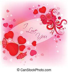 I Love You Valentine Background