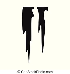 Isolated object of icicle and ice symbol. Collection of icicle and froze vector icon for stock.