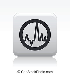 "Vector illustration of icon isolated in a modern style, depicting the symbol ""wave audio"""