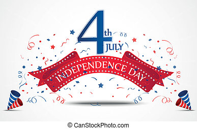 Independence day celebration - Vector Illustration of...