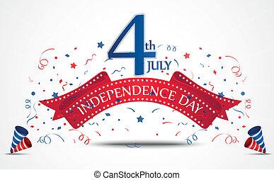 Independence day celebration - Vector Illustration of...