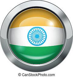India flag metal button