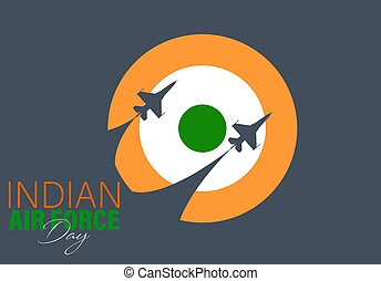 Vector Illustration of Indian Air Force Day observed on ...