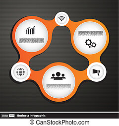 Vector illustration of infographic shape