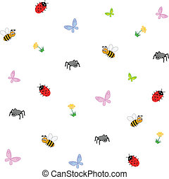 Vector illustration of insects