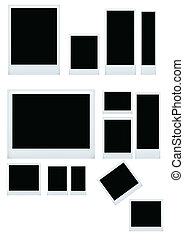 instant photo set isolated - vector illustration of instant...