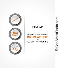 Vector Illustration of International Day against DRUG ABUSE ...
