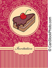 invitation card - Vector illustration of invitation card ...