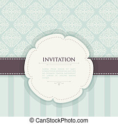 Invitation vintage background - Vector illustration of...