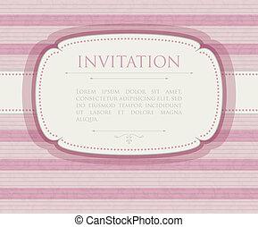Invitation vintage background
