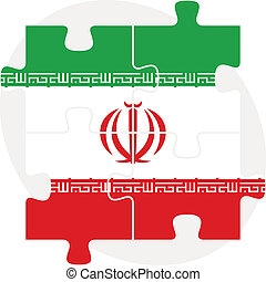 Iranian Flag in puzzle