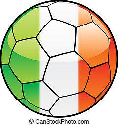 Ireland flag on soccer ball
