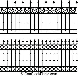 iron fence - vector illustration of iron fence