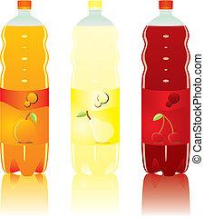 carbonated drink bottles