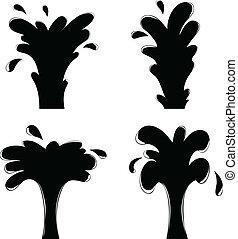 gusher - vector illustration of isolated gusher set for ...