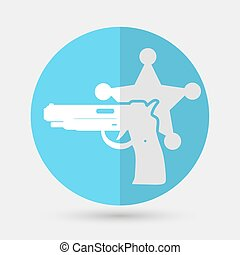 Vector illustration of isolated modern police icon.