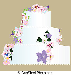 wedding cake - vector illustration of isolated wedding cake