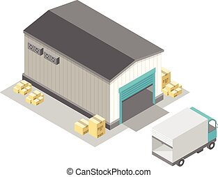 Isometric Storage - Vector Illustration of Isometric Storage...