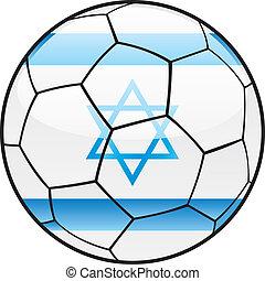 Israel flag on soccer ball