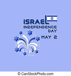 Vector illustration of Israel independence Day.