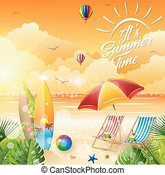 Vector illustration of Its summer time