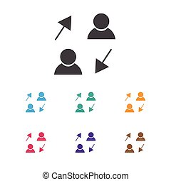 Vector Illustration Of Job Symbol On Sharing Icon. Premium Quality Isolated Publish Element In Trendy Flat Style.