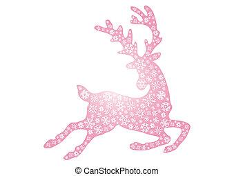 jumping pink reindeer