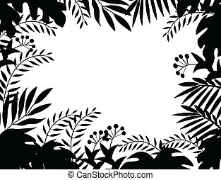 Jungle silhouette - Vector Illustration Of Jungle silhouette...
