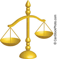 justice scal - Vector illustration of justice scales