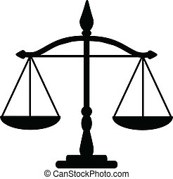 Vector illustration of justice scales