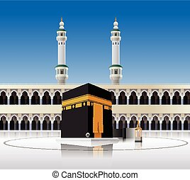 Vector illustration of Kaaba Mecca Saudi Arabia